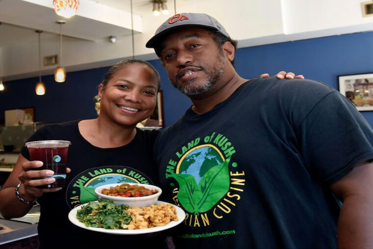 Naihja Wright and Gregory Brown, co-owners of Land of Kush, Baltimore.
