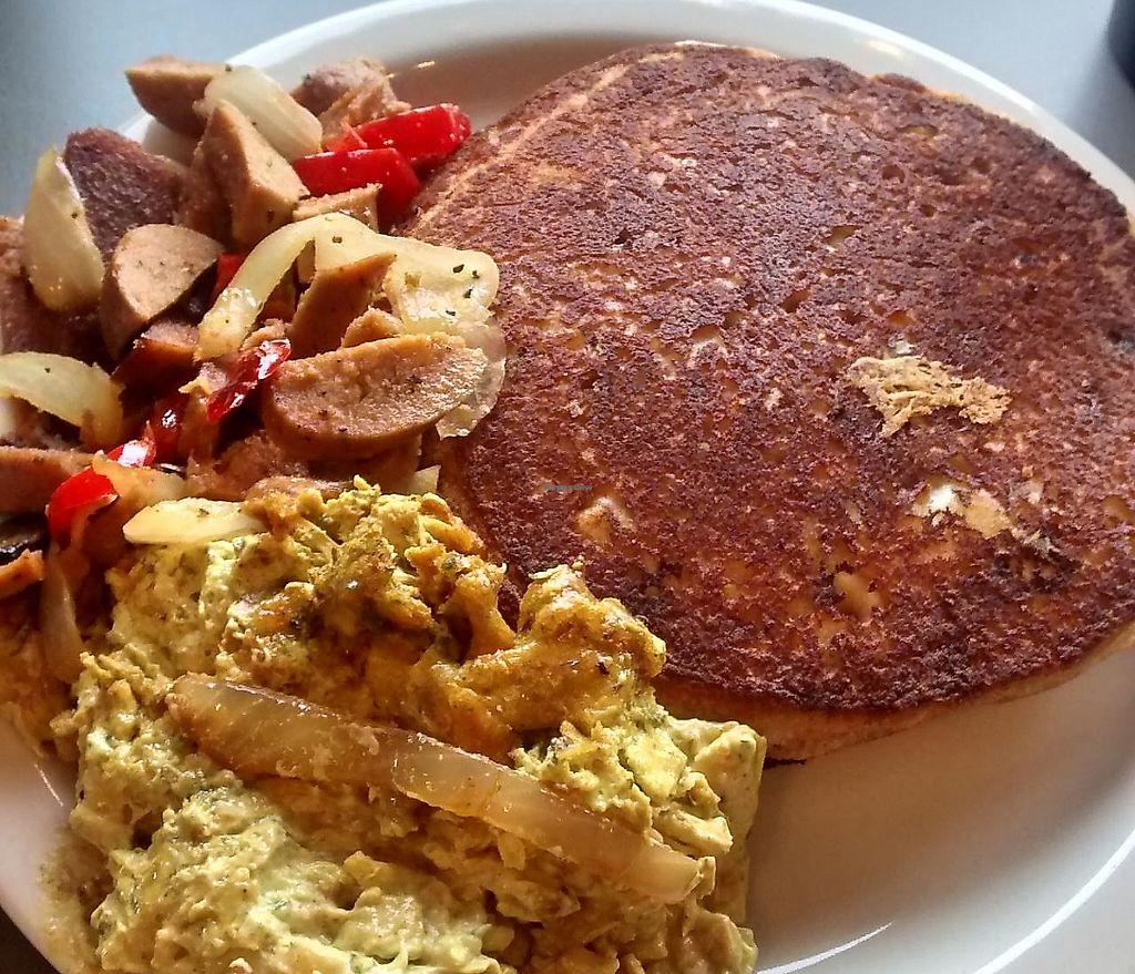 Vegan breakfast food from Land of Kush Baltimore.