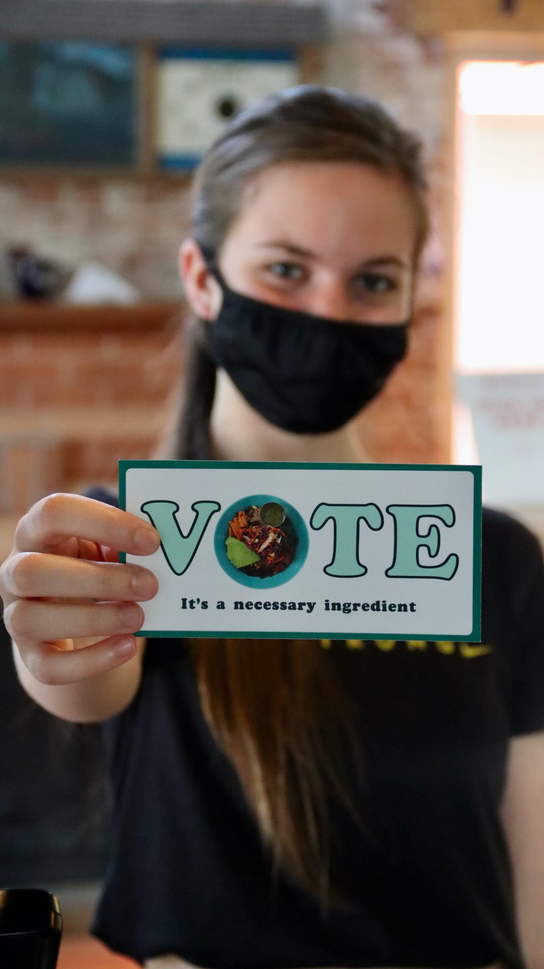 """Vote, it's a neccessary ingredient."" Photo by Manny Becerra"
