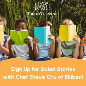 salad themed story time with Chef Steve Chu